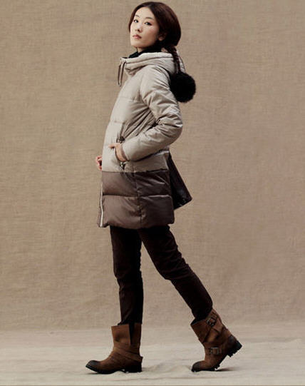 2014 New Winter Casual Long Slim Fashion Brand Color Stitching Down Coat Women Hooded Patchwork Thick Warm Parkas Overcoat H2864