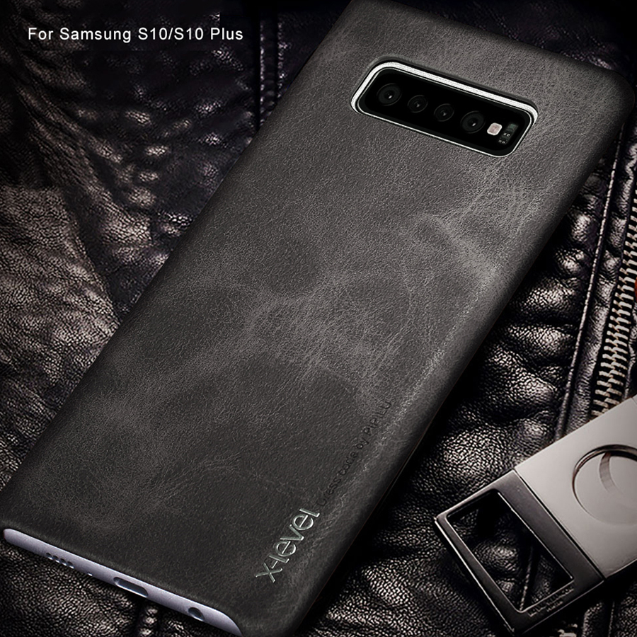 for Samsung S10 S9 S8 Plus S10e Case X-Level Vintage Soft PU Leather Ultra Thin Phone Back Cover for Samsung Note 9 8 5 S7 edge
