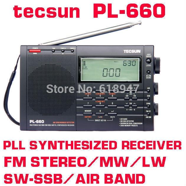 Free Shipping Retail Wholesale Tecsun pl 660 FM Radio Stereo LW MV SW SSB AIR PLL