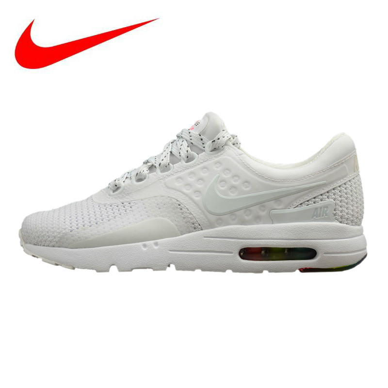 new product c32ea c9a62 Nike AIR MAX ZERO QS Men s and Women s Running Shoes, Shock Absorption  Breathable Lightweight Non-slip, White 789695 101
