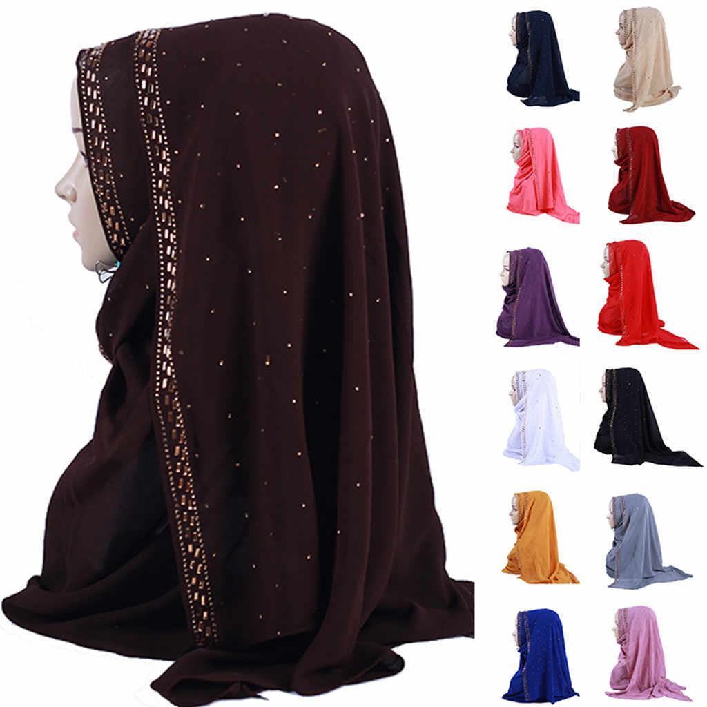 KLV женский хиджаб модная Цветочная индийская шляпа мусульманская Дамская гофрированная шаль шифоновая шапочка-тюрбан головной убор хиджаб femme musulman L0502