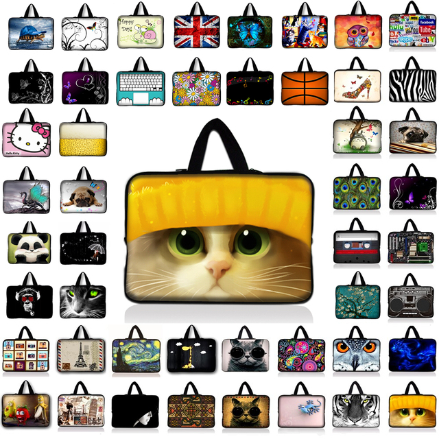 dd6e6d40c Cute Cat Laptop Sleeve Tablet Bag Notebook Case For 7 10 12 13.3 14