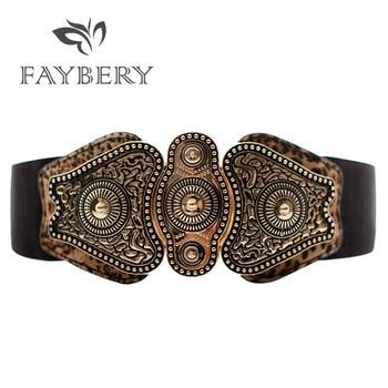 Luxury Designer Brand Wide Belts for Women Jeans Elastic Leather Belt High Quality Female Cummerbund