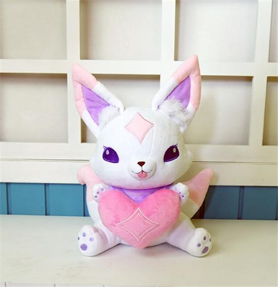 2020 estrela guardiao ahri pouco bonito raposa kiko mascote anime recheado pelucia boneca dos desenhos animados