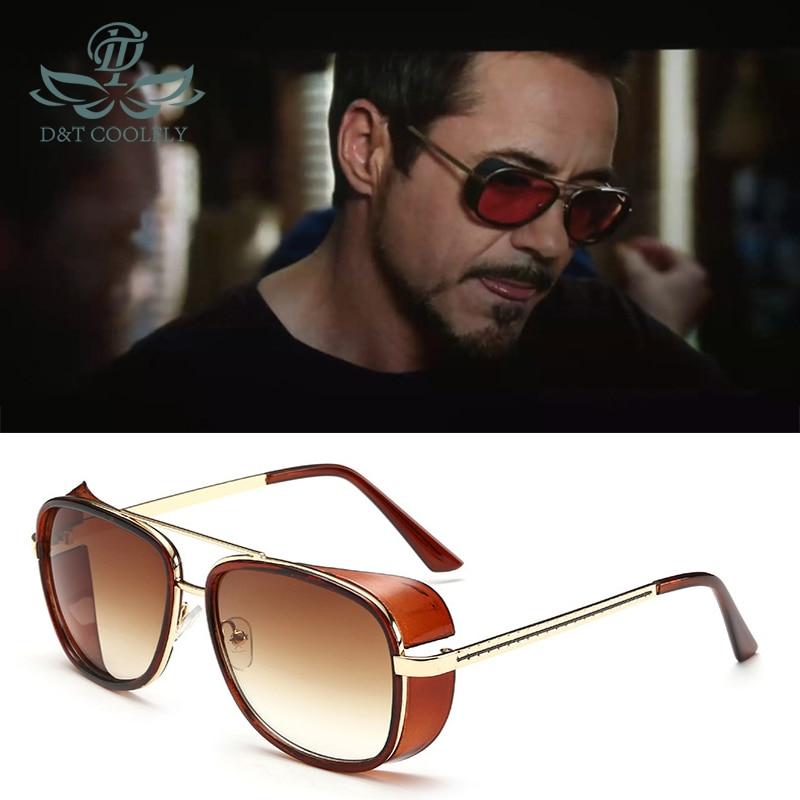 2019 Iron Man 3 Matsuda TONY Stark lunettes de soleil hommes mode lunettes de soleil marque Designer Vintage couleur lentille métal cadre mâle lunettes de soleil