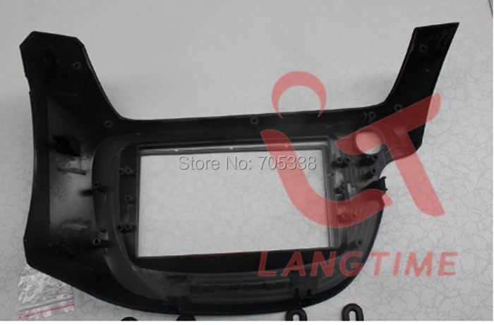 Free shipping car refitting dvd frame audio frame cd panel for 2008 Honda Fit Jazz Left driver 08 13 2DIN in Fascias from Automobiles Motorcycles