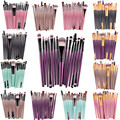 Pro 15 pz Spazzole di Trucco Set Ombretto Prodotti di base In Polvere Eyeliner Ciglia Labbra Make Up Pennello Cosmetico di Bellezza Strumento Kit