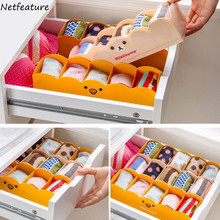 Large Capacity Home Drawer Five Grid Storage Box Portable Desktop Jewelry Cosmetic Socks Multifunctional Finishing Box Organizer(China)