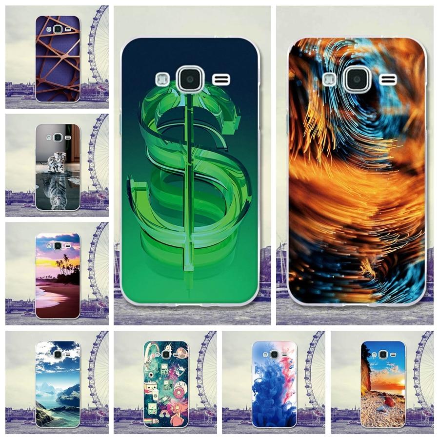 Galleria fotografica For Coque Samsung Galaxy J3 2016 Case Cover 5.0 Art Cartoon Rubber TPU Silicone Case For Samsung Galaxy J3 J300F J310F J320F