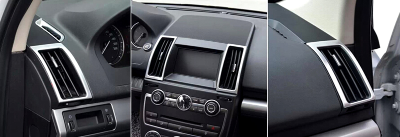 6pcs Inner AC Air Vent Outlet Frame Cover Trim For Land Rover Freelander 2 2011-2015 Car Styling accessories!