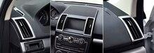 6 шт. Внутренний AC Вентиляционное отверстие Розетки Рамка Крышка Накладка Для Land Rover Freelander 2 2011-2015 Стайлинга Автомобилей аксессуары!
