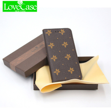 LOVECASE For iPhone 6s luxury wallet style  phone shell for iPhone6 6s plus 7 7plus flip bracket mobile phone case bag