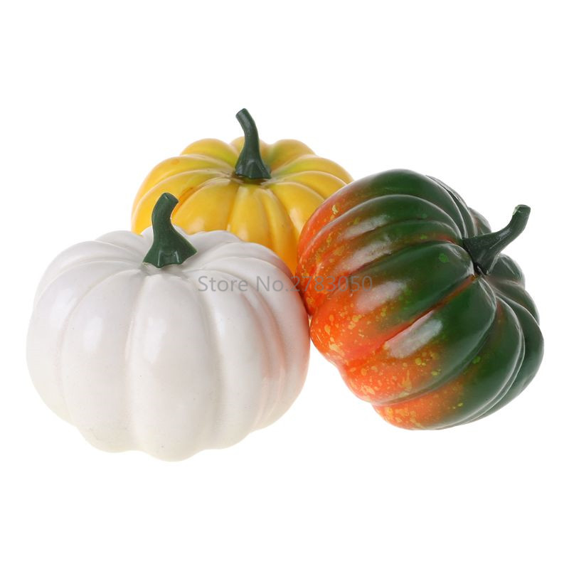 e83a6eb9070 Realistic Fake Artificial Small Pumpkins For Halloween Fall Harvest  Thanksgiving Party Decor DIY Craft Home Ornament 3 Colors -in Artificial  Foods ...