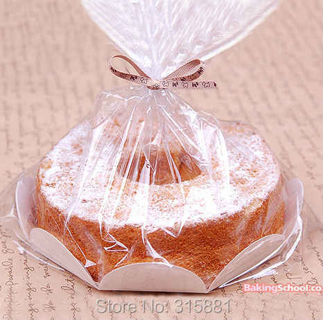 6 inch chiffon cake Packaging bags, Plastic gift packaging bag, Bread Packaging bags 50set/lot