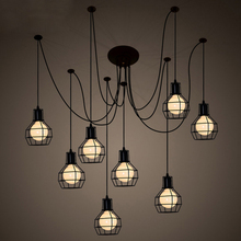 Nordic Loft Art LED Pendant Lights Modern Iron Lampshade Lamp Living Room Cafe Bar Decor Lighting Hanging Luminaire