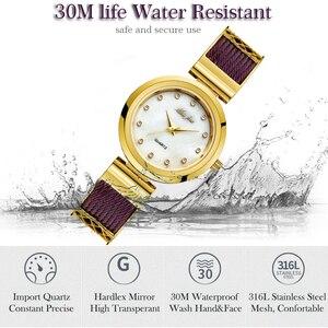 Image 4 - MISSFOX elbise bilek saatler kadın markaları için cenevre bayanlar saatler kadın paslanmaz çelik bilezik moda bayan altın izle