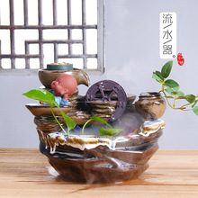 2019 Quemador Incienso Plutus Wheel Fountains Humidifier Water Exchanger With The Ceramics Handicraft That Occupy Home Tong Qu 2019 limited encens tong qu fo fish plutus home furnishing articles atomizing humidifier manufacturers selling arts and crafts