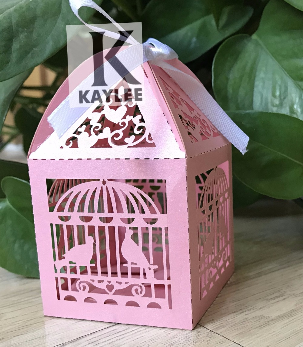 Bird Cage Design Fashion Chocolate Box,Laser Cut Wedding Favor Boxes ...