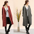 2017 Korean Fashion Clothing Spring Warm Coat Manteau Femme Windbreaker Autumn Trench Coat Casual Coat  Linen Cardigan 3Colors