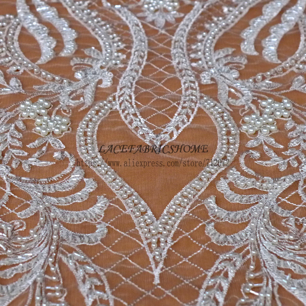 La Belleza  fashion wedding style lace ivory/wine/black/gold heavy handmade brides lace fabirc 51 widthLa Belleza  fashion wedding style lace ivory/wine/black/gold heavy handmade brides lace fabirc 51 width