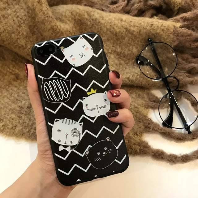 placeholder Phone Cases For Oppo F7 3D Relief Cute Cat Soft Cases For Oppo  A9 Cartons Silicone 2123288b9289