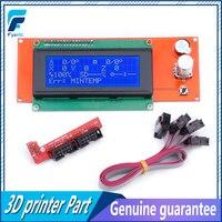 משלוח חינם 3D מדפסת חלקי LCD תצוגת 3D מדפסת חכם בקר רמפות 1.4 2004LCD שליטה
