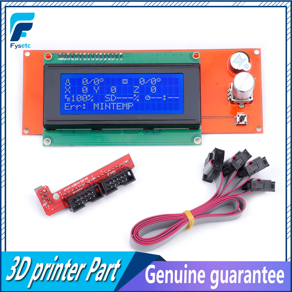Free shipping 3D Printer Parts LCD Display 3D Printer Reprap Smart Controller Reprap Ramps 1.4 2004LCD Control For Anet A8 цена 2017