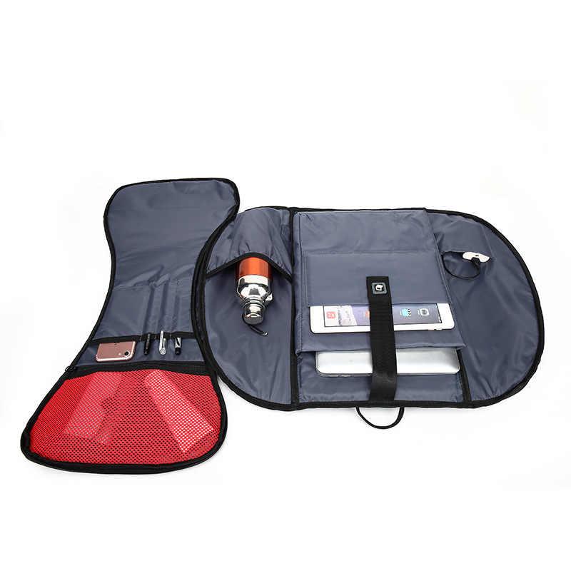 Мужской черный деловой рюкзак от BAIBU для ноутбука 15,6 дюймов, многофункциональная дорожная сумка с функцией подзарядки через USB, дорожная сумка унисекс, повседневные рюкзаки