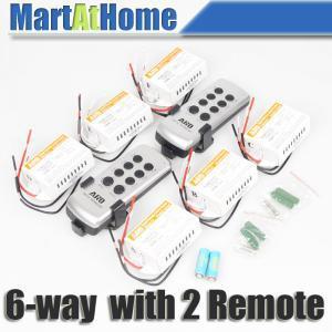 10 pcs/lot ARD 6-way Télécommande Sans Fil Commutateur Télécommande Interrupteur 220 v (2 Télécommandes) # BK108 @ SD
