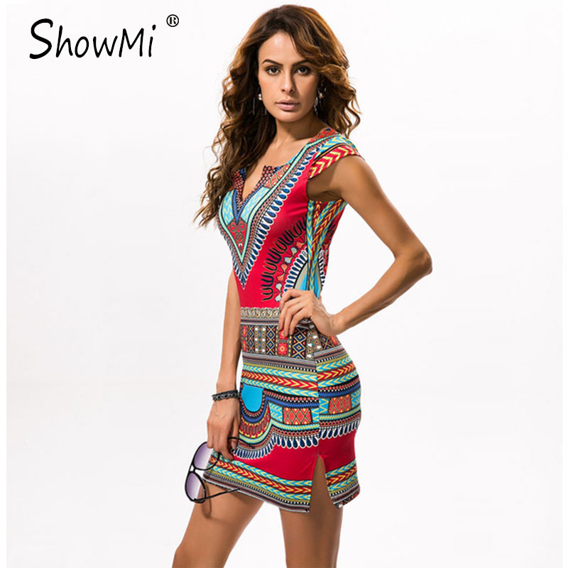 1c290425454 Details about New Ladies Summer Dress Casual 2018 Short V-neck Sexy African  Dresses Dashiki Tr