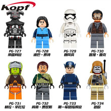 Star Wars First Order Officer Boba Fett Imperial Inquisitor Kanan Jarrus Stormtrooper Building Blocks Children Gift Toys PG8066(China)