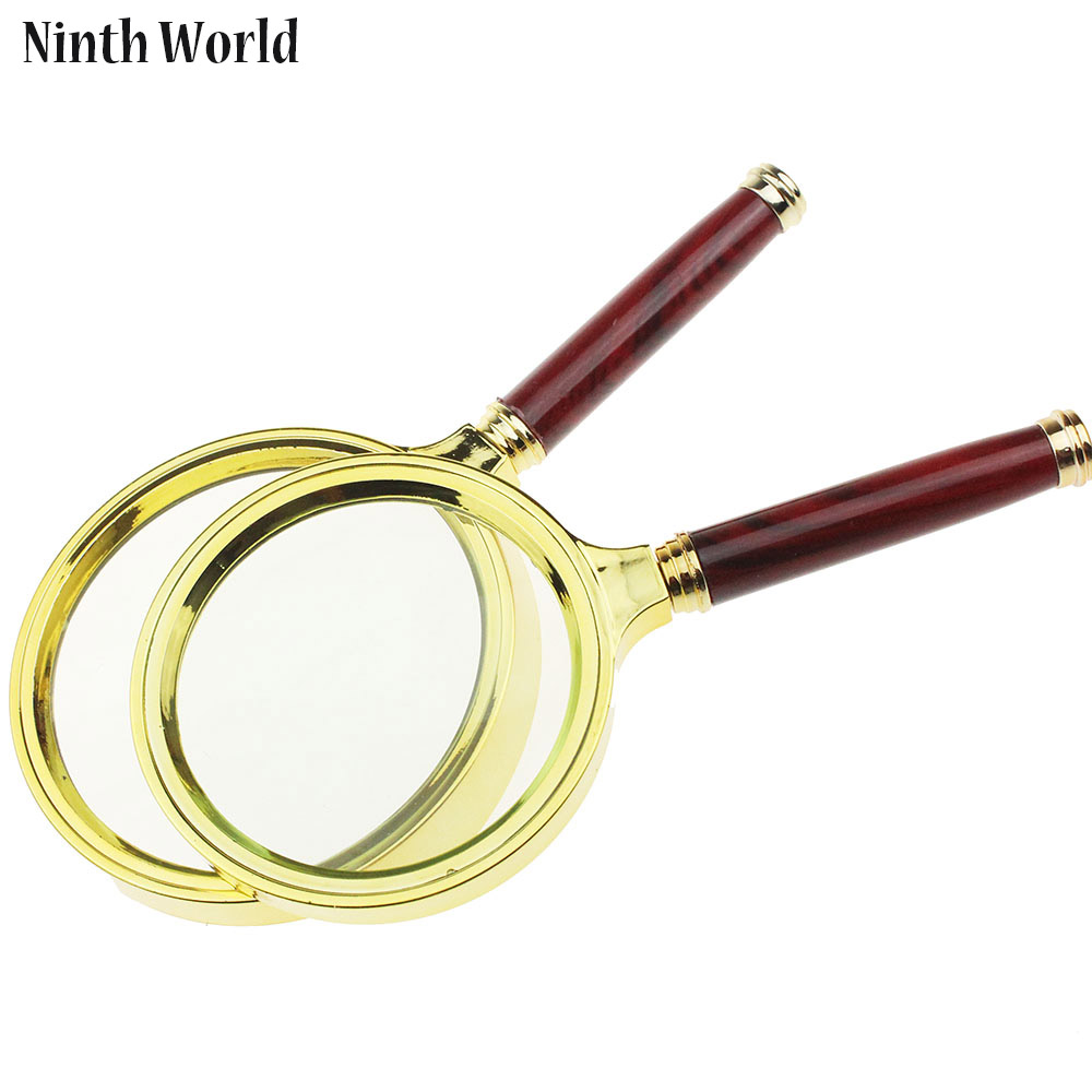 Ninth World 1Piece 80mm 90mm Handheld 10X Glass Magnifier Reading Watch phone repair Handle Lupa Loupe ...
