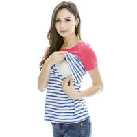 Chulianyouhuo Sommer Frauen Stillen T-shirt Mode Umstandsmode Mutterschaft Top T-shirt Hemd Nursing Tops für Schwangere