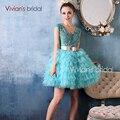 Vivian's Bridal 2016 New Arrival Sexy Short Homecoming Dresses Ruffled See Throught 8th Grade Dress XX11