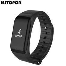 Lestopon фитнес-трекер Смарт браслеты с монитор сердечного ритма крови Давление шагомер напоминание для Android и IOS