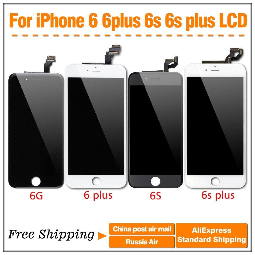 imágenes para 1 UNIDS Pantalla LCD y Digitalizador de pantalla Táctil para el iphone 6 6g negro y blanco Del Envío libre