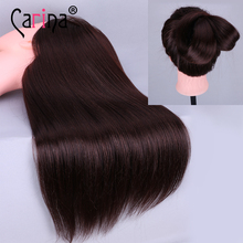 18 90% Real Human Hair with Mannequin Heads,Training Head Natural High Quality  Practice Training