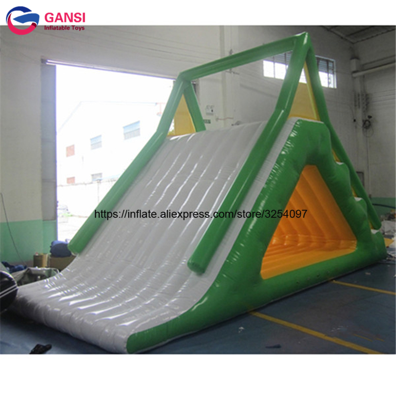 Sea/lake Inflatable Floating Water Park Trampoline Triangle Water Slide For Adults And Children