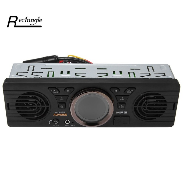 AV252B Bluetooth Car MP3 Player Vehicle Electronics In-dash MP3 Audio Player Car Stereo FM Radio 12V Bluetooth with USB TF Card
