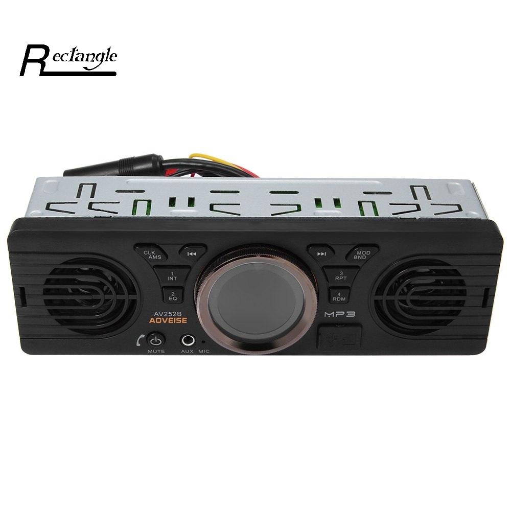Prix pour L'électronique du véhicule Au tableau de bord MP3 Lecteur Audio De Voiture Stéréo FM Radio AV252B 12 V Bluetooth 2.1 + EDR avec USB/TF Port De Carte