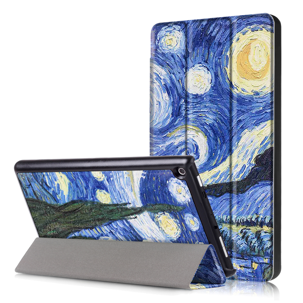 Slim Case For New Fire HD 8.0 Tablet Magnetic PU Leather Stand  Cover For Amazon Fire HD 8 Inch 2016/2017/2018 Tablet Case