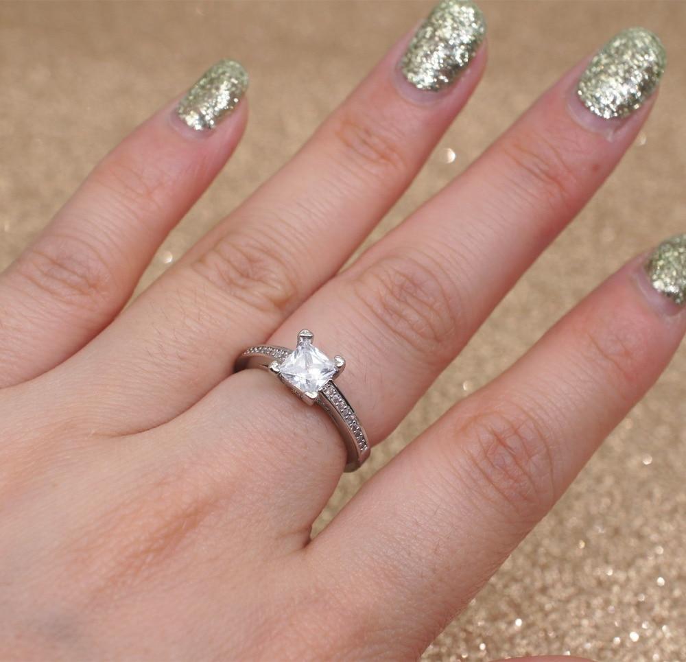 Aliexpress.com : Buy 2017 Brand Engagement Ring Band 1.6 Carat ...