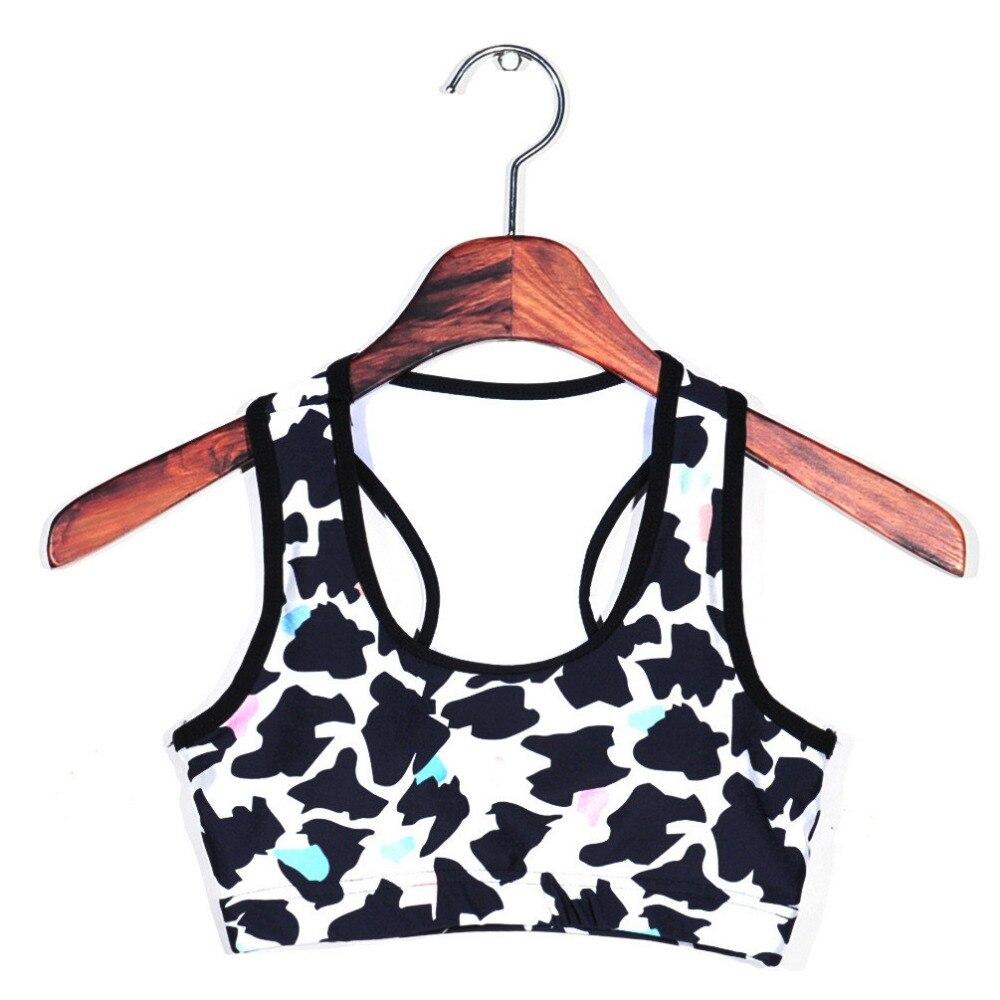 126e7a06198ac Women cow pattern print fitness short vest workout wireless jpg 1000x1000 Cow  pattern bra