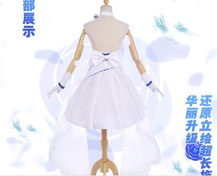 Honkai Impact 3rd Raiden Mei Pure eternal flower wedding dress cosplay costume