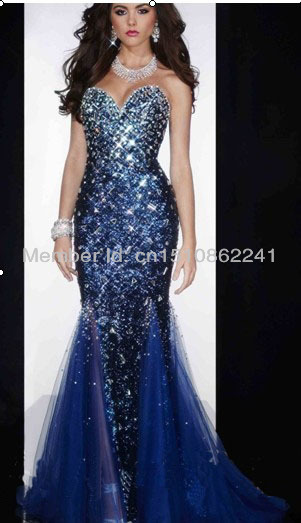 Popular Royal Blue Mermaid Prom Dress-Buy Cheap Royal Blue Mermaid ...
