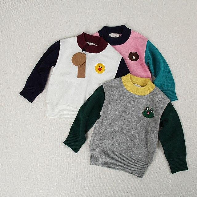 380d39b17 toddler boy sweater girls winter sweater pullover kids Brown Bear ...