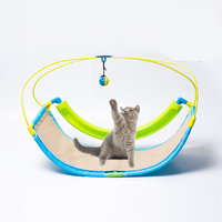 2 In 1 Cat Toy Pet Exercise Cradle Cat Bed Sofa with Ball Toys Hammock