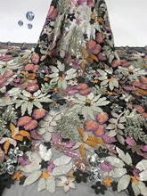 african guipure lace fabric with sequins Wholesale African Lace Fabric 2019 High Quality French DYS146