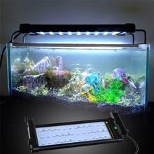 Extensible 30-50 cm RGB 16 Colores LLEVÓ la Iluminación Del Acuario LED Del Tanque de Pescados luz de La Lámpara 6 W 4 modos de LA UE EE.UU. REINO UNIDO Plug Remoto Control