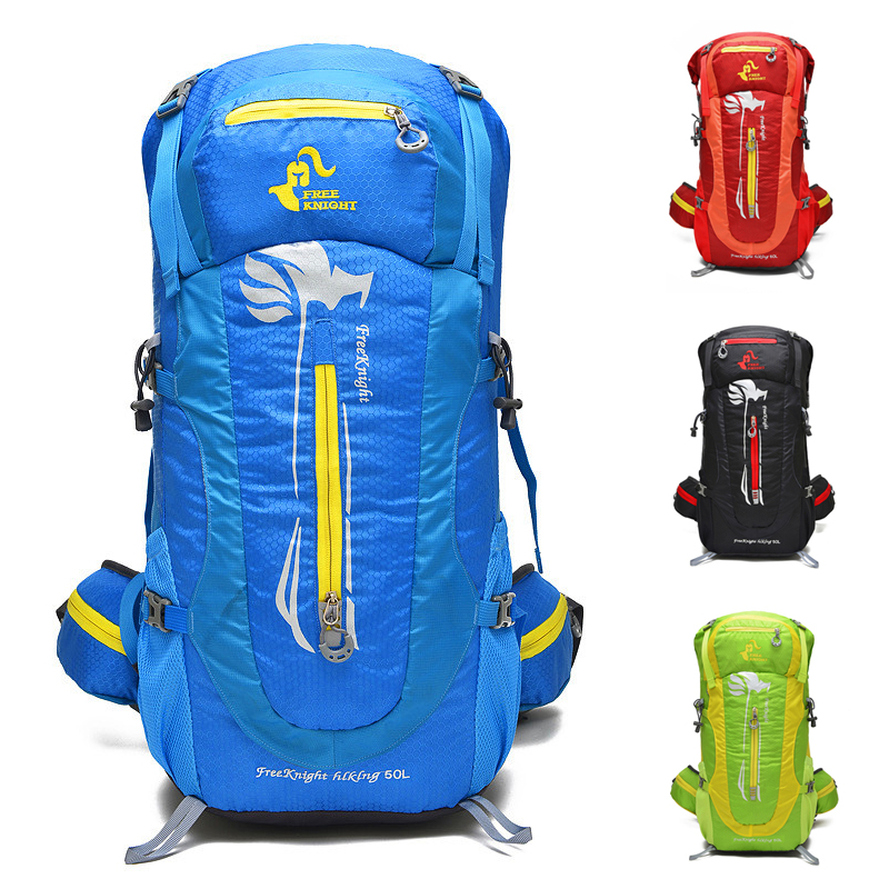 Free Knight Men Sport Bag Hiking Backpack 50L Outdoor Women Large Travel Bags For Camping Climbing Fishing Shoulders Bag 5 Color large capacity women men outdoor bags climbing hiking camping backpack rucksacks travel sport bag high quality 8 colors